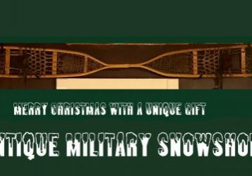 AFH WALLINGFORD VT ANTIQUE MILITARY SNOWSHOES - WWII