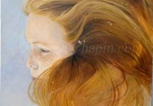 Contemporary Realistic Painting portrait in underwater portrait painting Stage 5 final finishing stages of painting Ethereal - Deborah Chapin